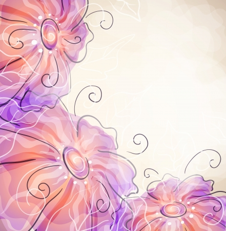 transpiration: floral background   Illustration