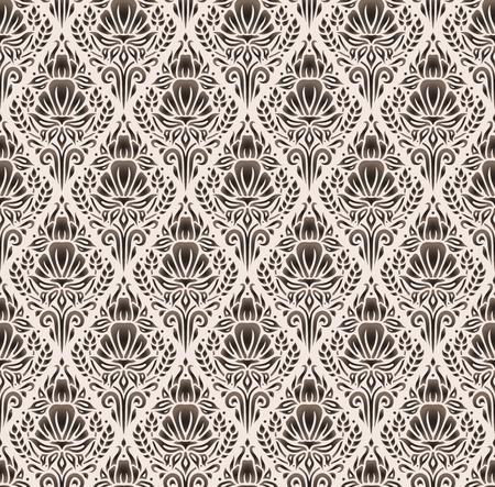 corn flower: seamless damask pattern