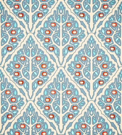 appletree: seamless pattern with apple-tree Illustration