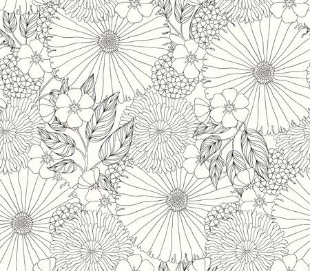 beautiful seamless pattern with flowers