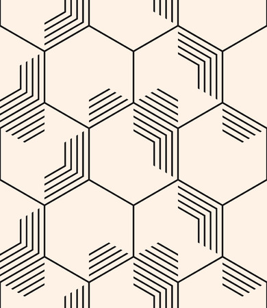 Vector seamless pattern. Backdrop template. Repeating hexagon tiles