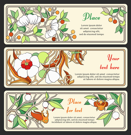 set of banners in the Art Nouveau style (series) Vector