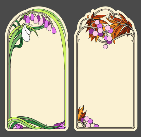 set of banners in the Art Nouveau style (series)