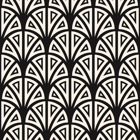 Vector seamless pattern. Regular backdrop template. Repeating  stylized geometric floral elements Vettoriali