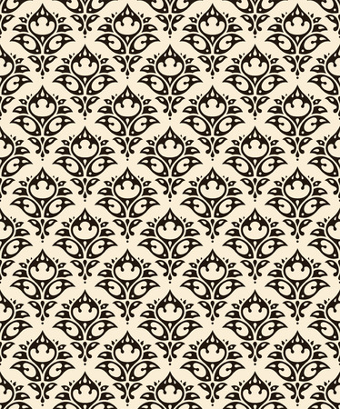 filigree background: damask seamless pattern
