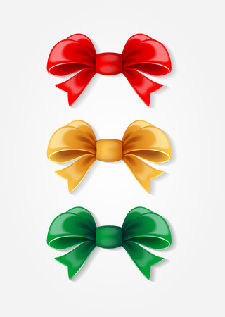 red and gold: red, gold and green bows