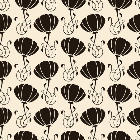 antique art: modern seamless pattern