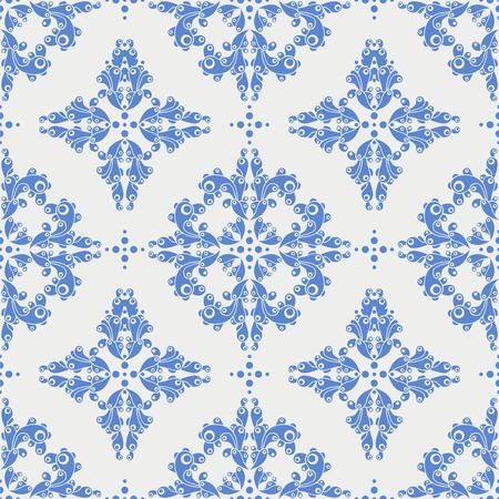 cor: blue retro seamless pattern Illustration