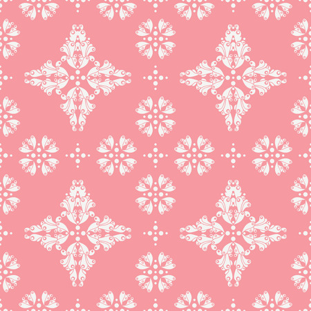 d cor: retro seamless pattern on pink backdrop Illustration