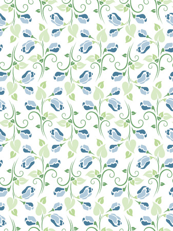 blue roses: seamless pattern with blue roses