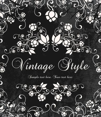 baroque background: vintage invitation Illustration