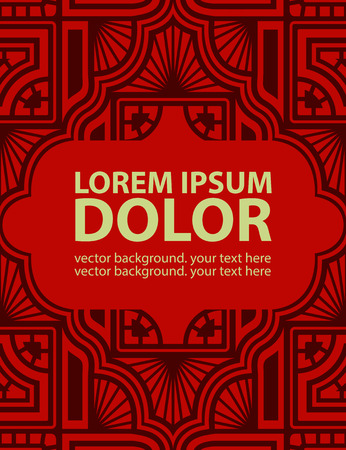 Background with Ethnic Ornament. Vector Template.