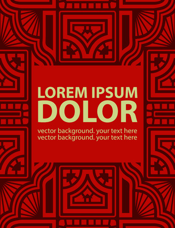 fabric design: Background with Ethnic Ornament. Vector Template.