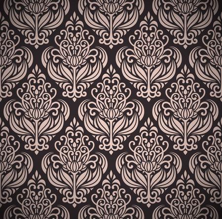 art deco: damask seamless pattern