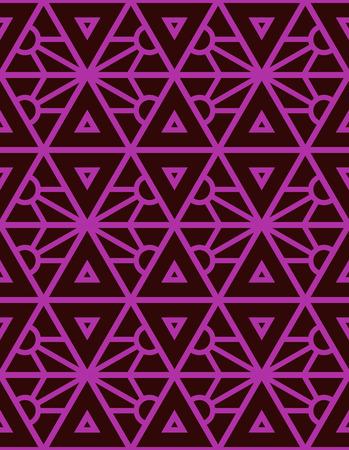 Vector seamless pattern, geometric style in pink. Ilustração Vetorial