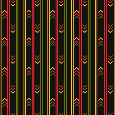 Geometric abstraction in stripes. The background is black. Texture, printing, design, decoration 向量圖像