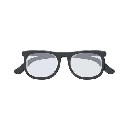 Black-framed glasses isolated on white background Ilustrace