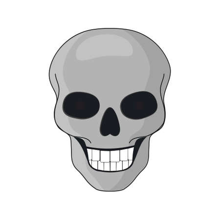 Skull isolated on a white background for Halloween Ilustrace