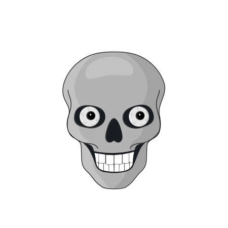 Skull with eyes for Halloween