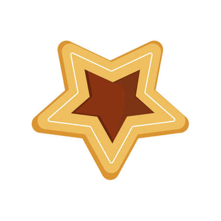 Cookies in the shape of a star, isolated on a white background, color  illustration Ilustrace