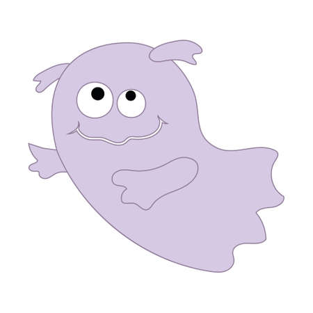 Cute ghost characters, color vector illustration for the Halloween holiday.
