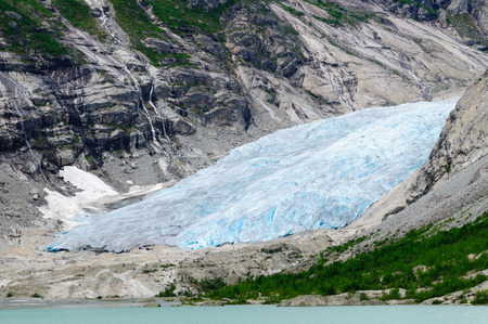 jostedalsbreen: Nigardsbreen glacial arm at Jostedalsbreen National Park Norway Stock Photo