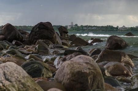 restless: Restless rocky coast of Baltic sea