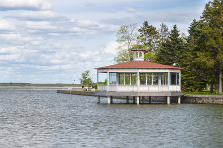 bandstand: A bandstand pavilion at Haapsalu town seaside promenade