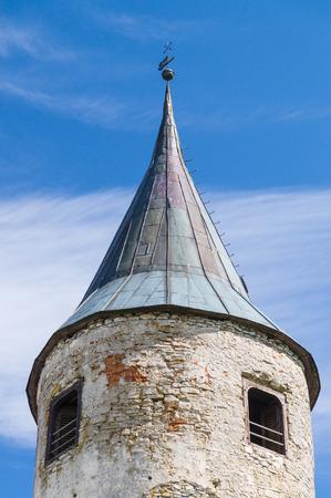Tower of medieval castle in Haapsalu town Estonia photo