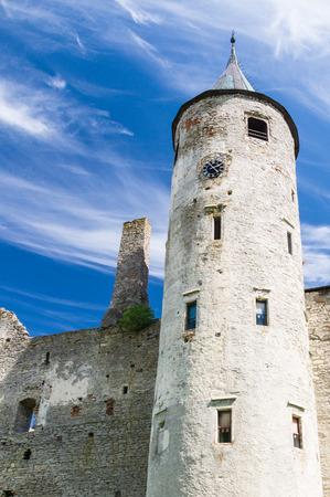 episcopal: The main tower of the Episcopal castle in Haapsalu Estonia