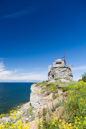 breakage: Riuned building of old Pakri lighthouse at breakage, Estonia