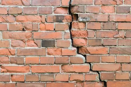 Crack in a old brick wall Reklamní fotografie