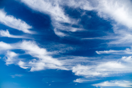 stratus: Deep blue sky with picturesque stratus clouds