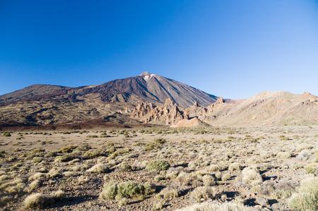 garcia: Volcano Teide and Garcia rocks Los Roques de Garcia, tenerife, Canary islands, Spain Stock Photo