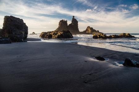 Rocky coast of Benijo beach Playa de Benijo, Tenerife island, Spain