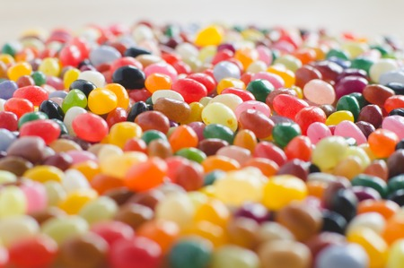 jelly beans: Jelly beans sideview background with selective focus