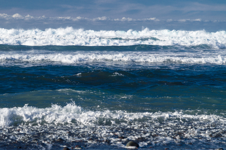 wavely: Powerful waves of Atlantic ocean, selective focus