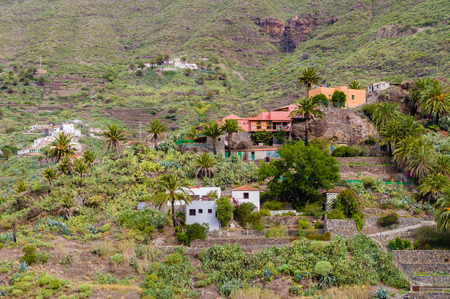 secluded: Secluded Masca village on mountain slope, Tenerife Stock Photo