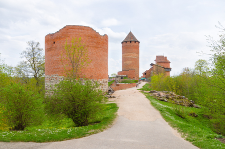 sigulda: Ruins of Turaida castle on springtime, Sigulda, Latvia