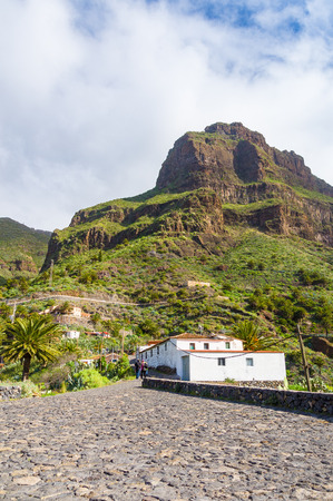 secluded: Masca village secluded in mountains of Tenerife, Canary islands, Spain Stock Photo