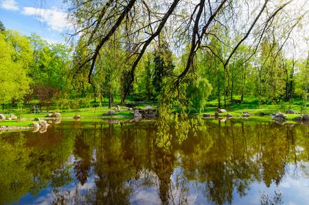 sone: TALLINN, ESTONIA - MAY 19, 2012: Japanese garden as part of Kadriorg park. Gardens was designed by Japans renowned landscape designer Masao Sone. Editorial