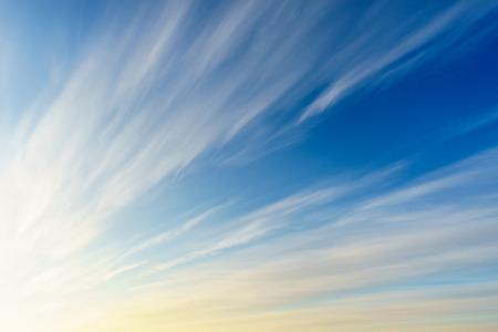 cirrus: Cirrus clouds on deep blue morning sky