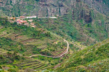 secluded: Secluded Masca valley view from Mirador de La Cruz de Hilda, Tenerife, Canary islands, Spain