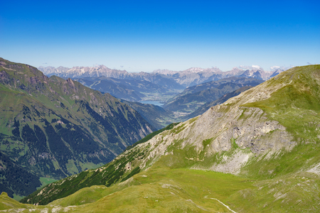 Austrian alps and Zell am See lake, Austria Stock Photo