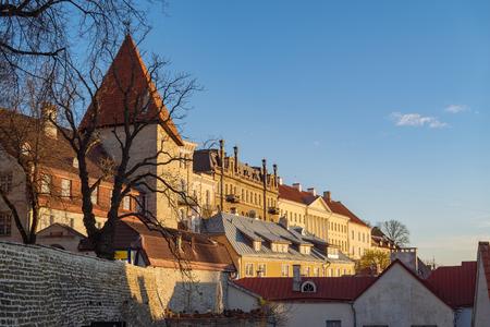Old town in sunrise light, Tallinn, Estonia