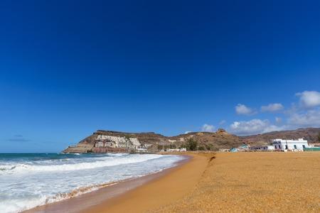 Playa de Tauro beach in municipality of Mogan, Gran Canaria, Canary islands, Spain Stock Photo