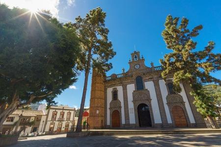 Facade of Basilica de Nuestra Senora del Pino, Teror town, Gran Canaria, Canary islands, Spain