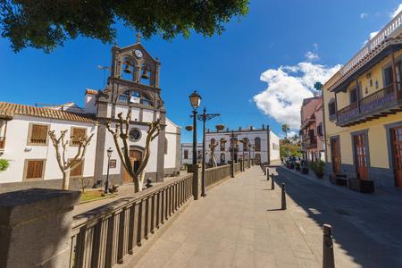 Iglesia de San Roque church in Firgas town, Gran Canaria, Spain