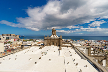 Panoramic view of Las Palmas city from the Cathedral of Santa Ana, Gran Canaria, Canary islands, Spain