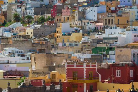 Colorful houses of Las Palmas, Gran Canaria, Canary Islands, Spain